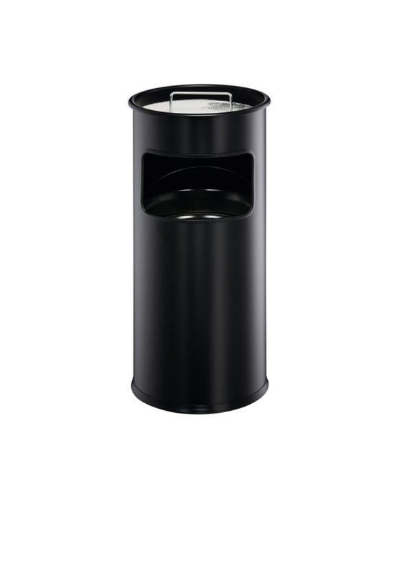 Basurero con cenicero 17l negro durable